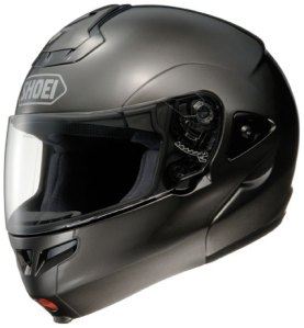 Black Shoei Multitec Modular Helmet