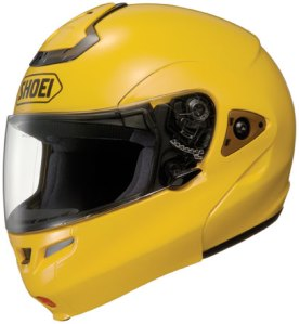 Yellow Shoei Multitec Modular Helmet