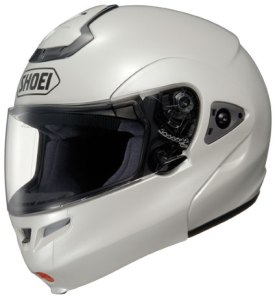 White Shoei Multitec Modular Helmet