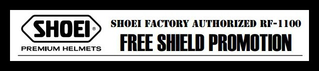 Shoei Free shield Promotion